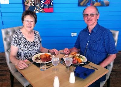 Lunch with  my husband on our 46th wedding anniversary